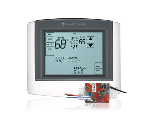 Vantage Universal Thermostat including a CC-RLINT