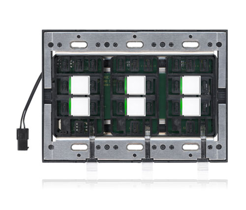 ScenePoint Dimmer, SquareTouch, Arctic White, Plastic Faceplate Compatible, Green LED, Not Engraved
