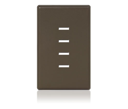 FP - Finetouch Softline Plastic 1-G 4-BTN Brown