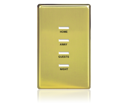 FP - Finetouch Softline Metal 1-G 4-BTN Polished Brass Eng