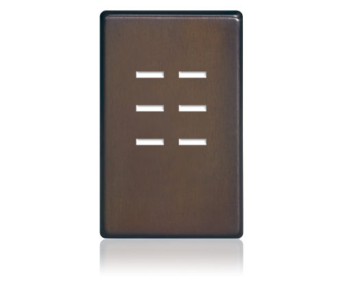 FP - Finetouch Softline Metal 1-G 6-BTN Oil-Rubbed Bronze