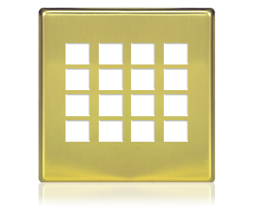 FP -  SQUARETOUCH SL 2-G 8X8 MET POLISHED BRASS