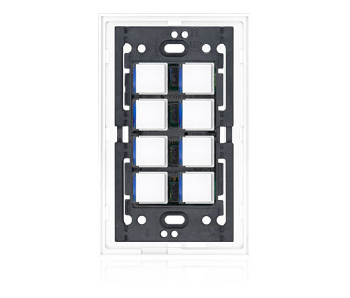 KS - Squaretouch With Trim 1-G 8-BTN B-Led Arctic White