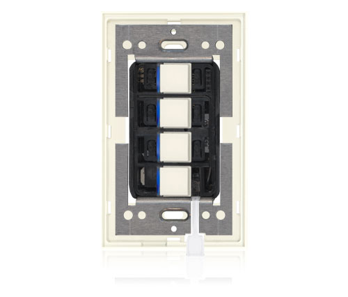 RR - Squaretouch With Trim 1-G 4-BTN B-Led Ivory