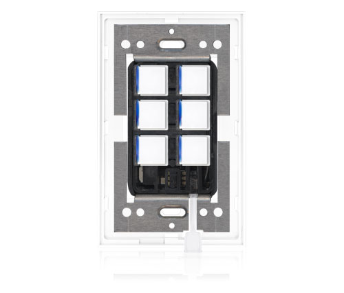 RR - Squaretouch With Trim 1-G 6-BTN B-Led Arctic White