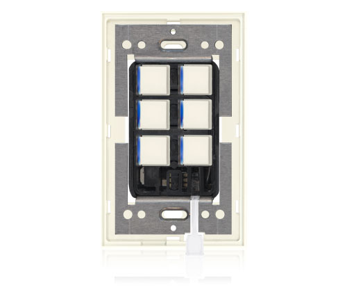RR - Squaretouch With Trim 1-G 6-BTN B-Led Ivory