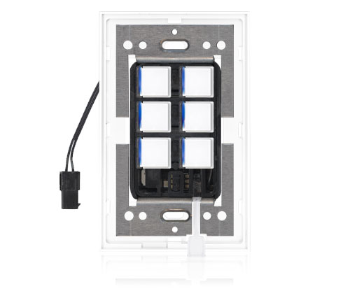 SDR - Squaretouch With Trim 1-G 6-BTN B-Led Arctic White