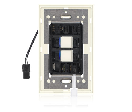 SR - Squaretouch With Trim 1-G 2-BTN B-Led Ivory