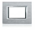 Axolute Rectangular Faceplate, 1 Gang - Brushed Chrome