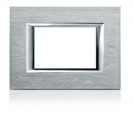 Axolute Rectangular Faceplate, 1 Gang - Brushed Mercury