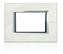 Axolute Rectangular Faceplate, 1 Gang - White Lacquer