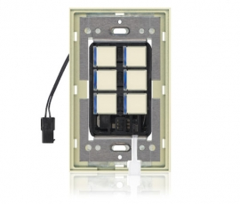 DS - Squaretouch With Trim 1-G 6-BTN B-Led Almond