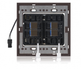 DS - Squaretouch With Trim 2-G 2X2 B-Led Brown