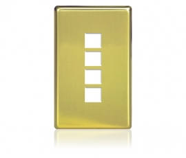 FP - Squaretouch Softline Metal 1-G 4-BTN Polished Brass