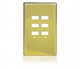 FP - Rptouch Softline Metal 1-G 6-BTN Polished Brass