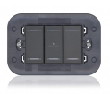 Axolute Keypad Station - 1 Gang, 3 Button - Charcoal