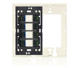 KS - Squaretouch With Trim 2-G 2X2 B-Led Ivory