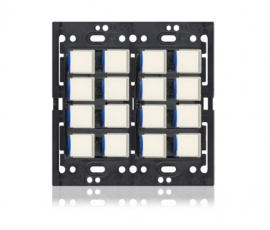 KS - Squaretouch No Trim 2-G 8X8 B-Led Ivory