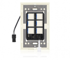 SDR - Squaretouch With Trim 1-G 6-BTN B-Led Ivory