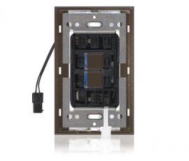 SR - Squaretouch With Trim 1-G 2-BTN B-Led Brown